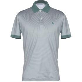 《セール開催中》GRAN SASSO メンズ ポロシャツ ダークグリーン 54 コットン 100%