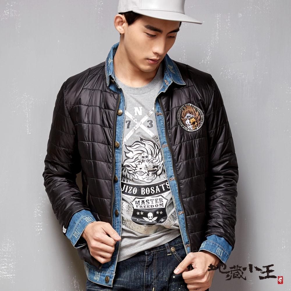BLUE WAY 地藏小王-丹寧拼接假兩件發熱棉外套