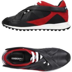 《セール開催中》DSQUARED2 メンズ スニーカー&テニスシューズ(ローカット) ブラック 40 牛革(カーフ) / 紡績繊維