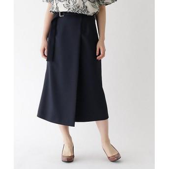 【SALE(伊勢丹)】<aquagirl/アクアガール> ツイルラップ風スカート(2001520873) 093アオ【三越・伊勢丹/公式】