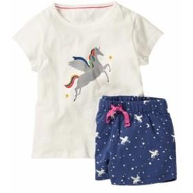 欧米風ブランド子供セット夏の新作女の子Tシャツセット純綿カートゥーン半袖セット