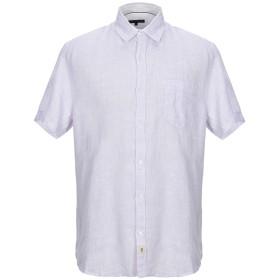 《セール開催中》TRUSSARDI JEANS メンズ シャツ ライラック L 麻 100%