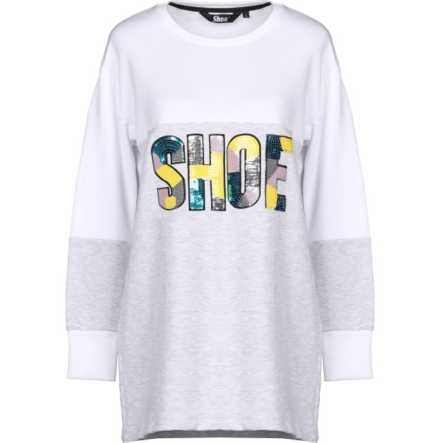 《セール開催中》SHOESHINE レディース スウェットシャツ ライトグレー L コットン 70% / ポリエステル 30%