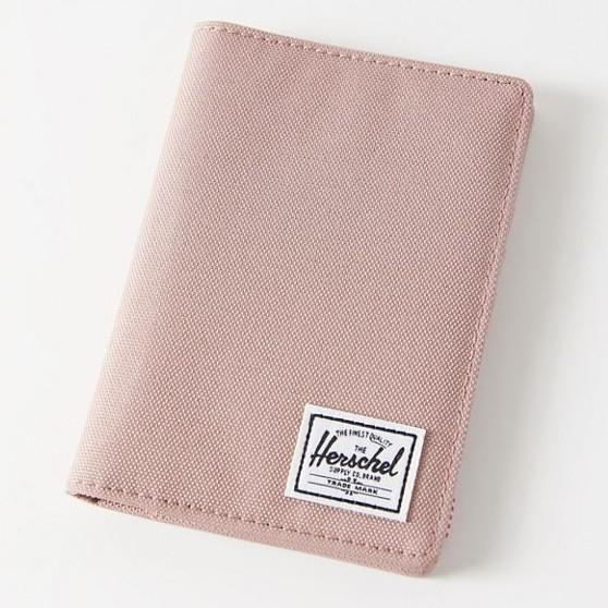 Herschel Raynor 乾燥玫瑰 粉色 帆布 RFID 防盜 出國 旅遊 卡夾 護照夾 護照套 護照 現貨