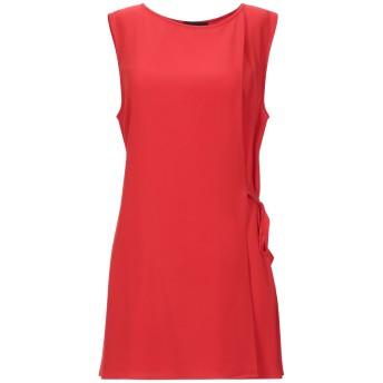 《セール開催中》AISHHA レディース ミニワンピース&ドレス レッド 44 ポリエステル 95% / ポリウレタン 5%