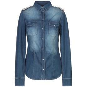 《セール開催中》LIU JO レディース デニムシャツ ブルー 46 コットン 98% / ポリウレタン 2%