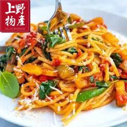 【上野物產】凡爾賽鮮蔬野菇雞肉義大利麵 x12包(麵體+醬料包 300g土10%/包) (義大利麵 義式美食 鮭魚 團購 美食)
