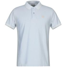 《セール開催中》CHARAPA メンズ ポロシャツ スカイブルー S コットン 100%