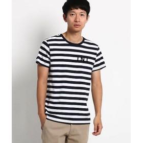 <Dessin/デッサン> ボーダーロゴフロッキーTシャツ(2001475707) アオ【三越・伊勢丹/公式】