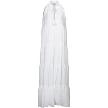 《セール開催中》KAOS JEANS レディース ロングワンピース&ドレス ホワイト 38 コットン 100%