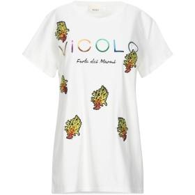 《セール開催中》VICOLO レディース T シャツ ホワイト one size コットン 100%