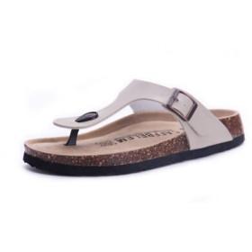 [Bopoli] レディーズ スリッパ フリップフロップ 夏 浜辺 Cork ブーツ Slides Girls Flats サンダル カジュアルl ブーツ Mixed Colors