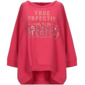 《セール開催中》!MERFECT レディース スウェットシャツ レッド 1 コットン 80% / ポリエステル 20%
