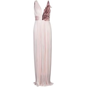 《セール開催中》IRIS SERBAN レディース ロングワンピース&ドレス ピンク 40 シルク 100% / ポリエステル / ポリウレタン