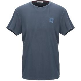 《セール開催中》MANUEL RITZ メンズ T シャツ ブルーグレー L コットン 92% / ポリウレタン 8%
