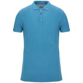 《セール開催中》40WEFT メンズ ポロシャツ アジュールブルー S コットン 100%