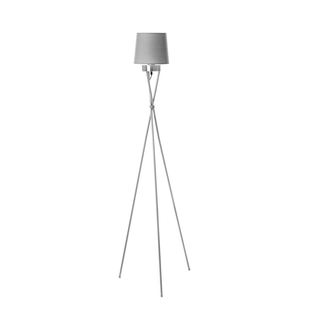 組 - 特力屋萊特 霧銀3桿立燈灰色燈罩
