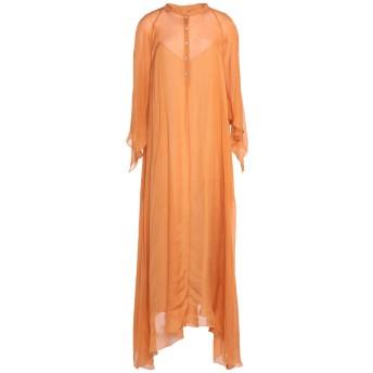 《セール開催中》FORTE_FORTE レディース ロングワンピース&ドレス オレンジ 0 シルク 100% / コットン