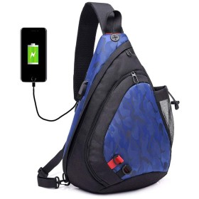 QTMIAO-Bags メンズカジュアル通気性の胸パック男性のトラベルバッグ (Color : CamouflageBlue)