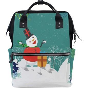 リュック レディース メンズ 学生 登山リュック リュックサック バックパック 大容量 デイバッグ クリスマス 雪だるま 雪柄 花火 マザーズバッグ おしゃれ 通勤 通学