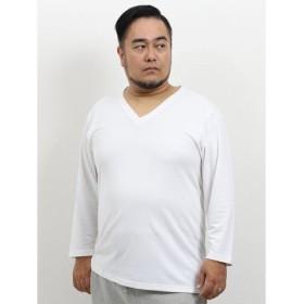 (TAKA-Q/タカキュー)【大きいサイズ】ミズノ/MIZUNO ブレスサーモ アンダーVネック長袖シャツ/メンズ ホワイト
