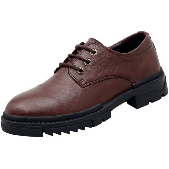 [WEWIN] マーチンシューズ メンズ 本革 革靴 ローカット 3ホール スリーホールシューズ ワークブーツ ドレスシューズ 紳士靴 就活 普段用 ビジネス カジュアル 履きやすい 厚底 防滑 通気 ファッション
