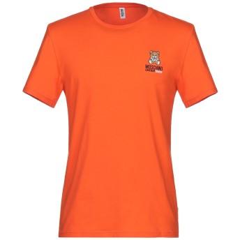 《セール開催中》MOSCHINO メンズ アンダーTシャツ オレンジ S コットン 95% / ポリウレタン 5%