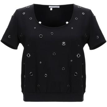 《セール開催中》PATRIZIA PEPE レディース T シャツ ブラック 2 ナイロン 90% / ポリウレタン 10%