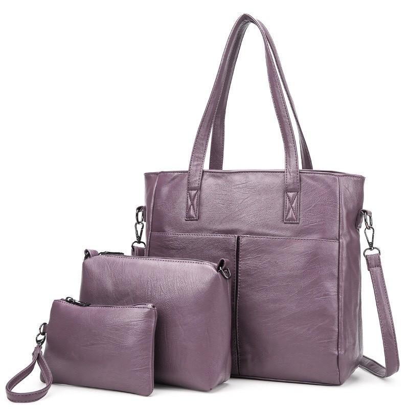 SPRING-〈獨家3件組〉時尚手提包 / 時尚手拿包 / 時尚零錢包