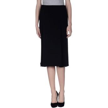 《セール開催中》DIANA GALLESI レディース 7分丈スカート ブラック 46 ポリエステル 100%