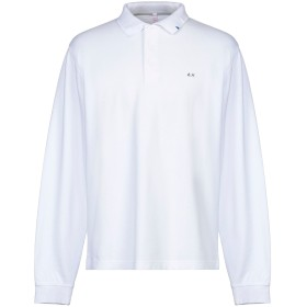 《セール開催中》SUN 68 メンズ ポロシャツ ホワイト S コットン 100%
