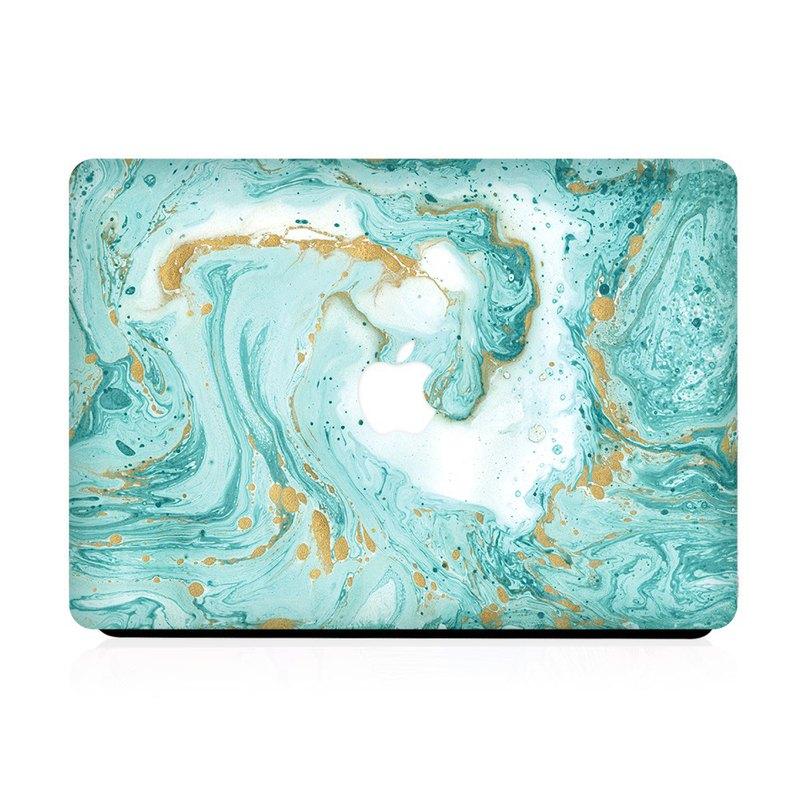 Slick Case 香港 | Aqua Glitter Marble MacBook 保護殼