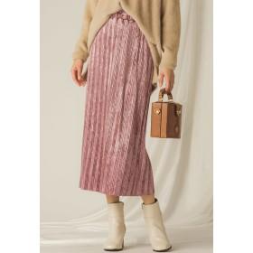 MAYSON GREY 【socolla】ベロアプリーツストレートスカート その他 スカート,ピンク