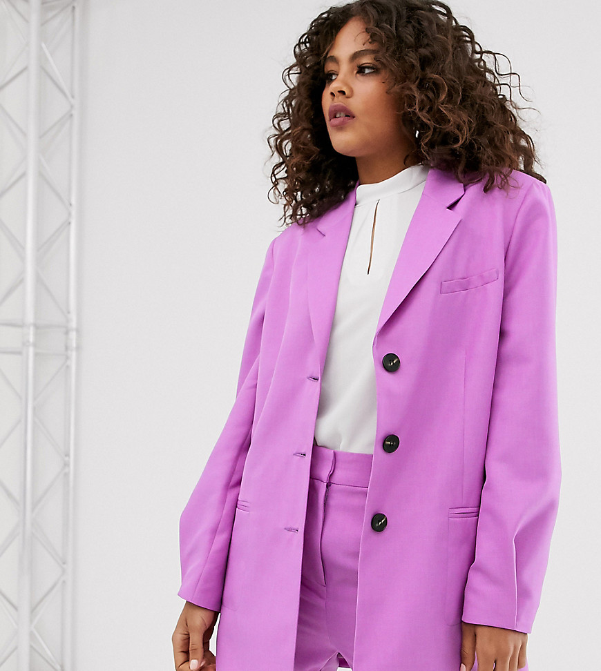 ASOS DESIGN Tall oversized dad blazer in lilac-Purple
