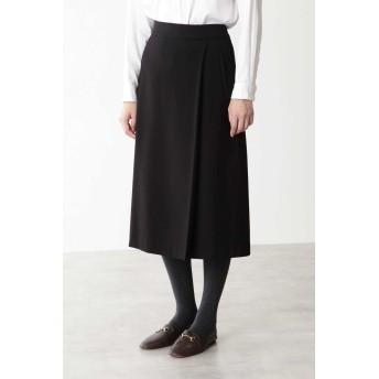 HUMAN WOMAN ◆フェイクウールスカート ひざ丈スカート,クロ