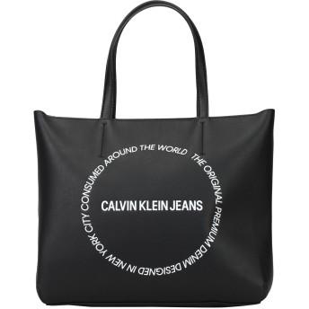 《セール開催中》CALVIN KLEIN JEANS レディース ハンドバッグ ブラック ポリウレタン 100% SCULPTED EW TOTE 29