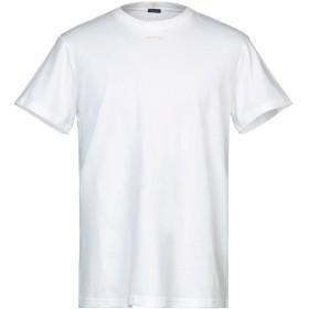 《セール開催中》(+) PEOPLE メンズ T シャツ ホワイト L コットン 100%