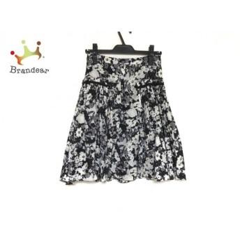 ボディドレッシングデラックス スカート サイズ36 S レディース 美品 黒×白×アイボリー 花柄   スペシャル特価 20200218