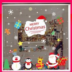時尚壁貼-聖誕來送禮(靜電貼)AMJ036