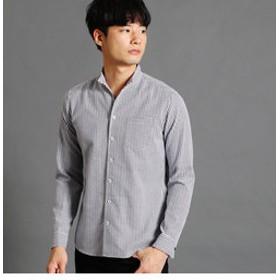 【NICOLE:トップス】格子柄ショートスタンドカラーシャツ
