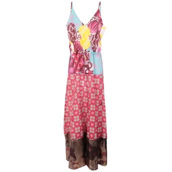 《セール開催中》MIMI LIBERT by MICHEL KLEIN レディース ロングワンピース&ドレス パープル 36 コットン 76% / シルク 24%