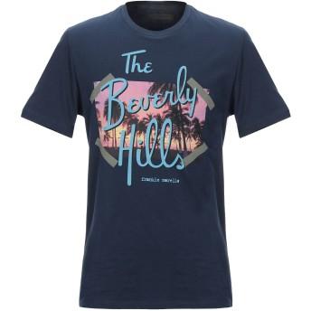 《セール開催中》FRANKIE MORELLO メンズ T シャツ ダークブルー S コットン 100%