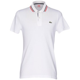 《セール開催中》LACOSTE L!VE メンズ ポロシャツ ホワイト 6 コットン 100%