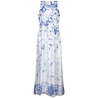 《セール開催中》MANILA GRACE レディース ロングワンピース&ドレス ホワイト 46 コットン 100%