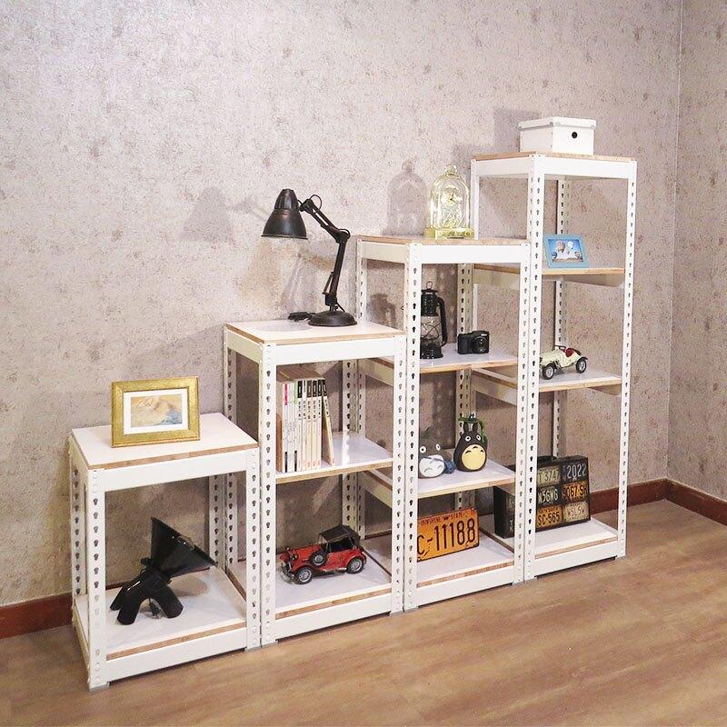 雪皓白 收納櫃 創意置物架 盆景架 階梯造型角鋼收納櫃  空間特工【LCW2345】