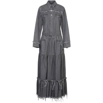 《セール開催中》ALANUI レディース ロングワンピース&ドレス 鉛色 S コットン 100%