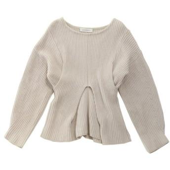 SAYAKA DAVIS レイヤード 変形ニット セーター ライトグレー サイズ:S (元町店) 191106