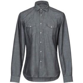 《セール開催中》XACUS メンズ シャツ ブラック 40 コットン 100%