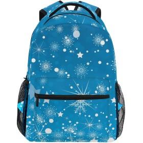 リュック 大容量 バックパック 学生 リュックサック レディース 雪柄 星柄 登山リュック デイパック メンズ おしゃれ 通学 通勤