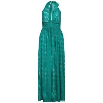 《セール開催中》NORA BARTH レディース ロングワンピース&ドレス エメラルドグリーン 38 ポリエステル 100%